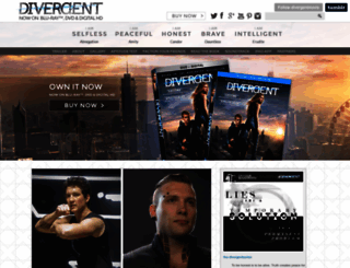 divergentthemovie.com screenshot