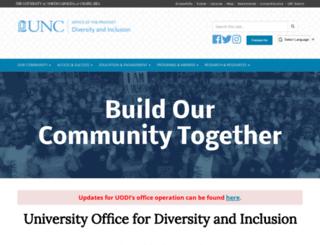 diversity.unc.edu screenshot