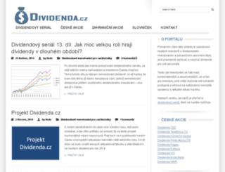 dividenda.cz screenshot