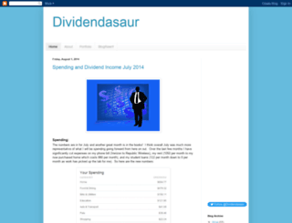 dividendasaur.blogspot.com screenshot