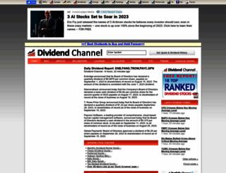 dividendchannel.com screenshot