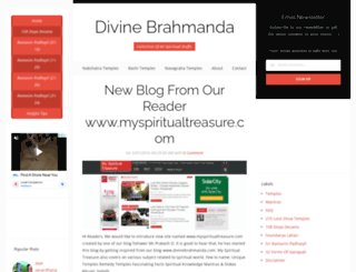 divinebrahmanda.com screenshot