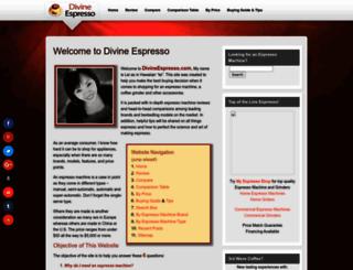 divineespresso.com screenshot