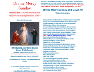 divinemercysunday.com screenshot
