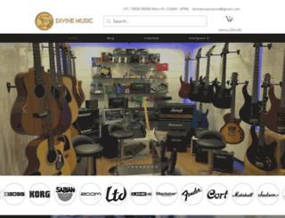 divinemusicstore.com screenshot