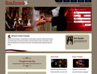 divineproposals.com screenshot