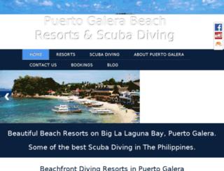 diving-puertogalera.com screenshot