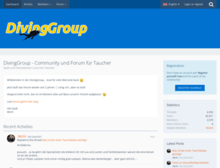 divinggroup.de screenshot