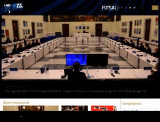 divisionecalcioa5.it screenshot