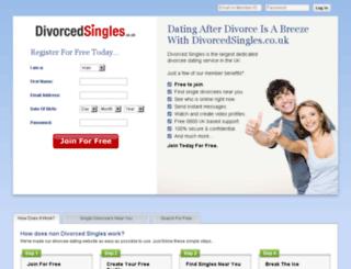 divorcedsingles.co.uk screenshot