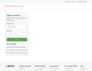 divorcelawfirms.com screenshot