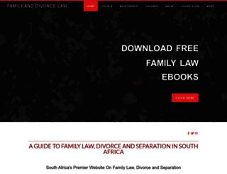 divorcelaws.co.za screenshot