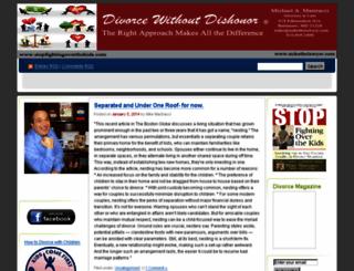 divorcewithoutdishonor.com screenshot