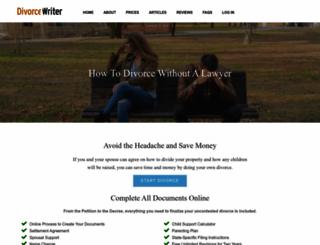 divorcewriter.com screenshot