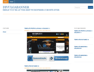 divulgabanner.wordpress.com screenshot