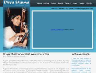 divyasharmavocalist.com screenshot