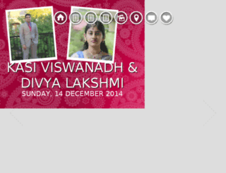 divyaviswa.weddings9.com screenshot