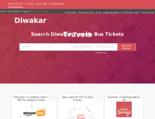 diwakar-travels.redbus.in screenshot