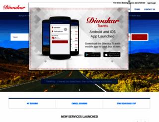 diwakarbus.com screenshot