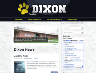 dixon.provo.edu screenshot