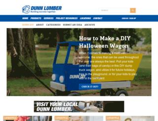 diy.dunnlumber.com screenshot