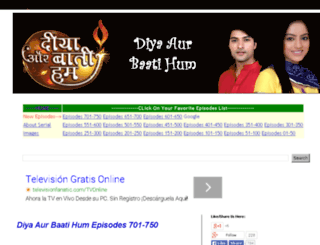 diyaaurbaatihumserial.blogspot.in screenshot