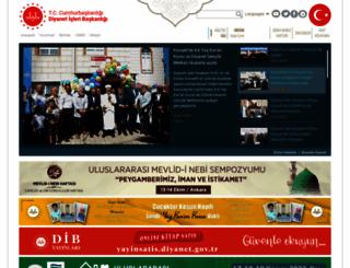 diyanet.gov.tr screenshot