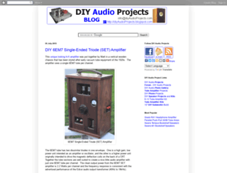 diyaudioprojects.blogspot.com screenshot