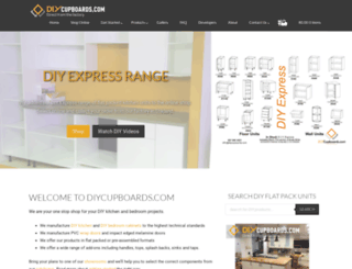 diycupboards.com screenshot