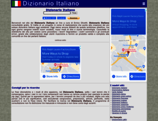 dizionario-italiano.it screenshot
