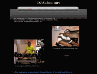 dj-subculture.com screenshot