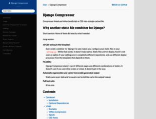 django-compressor.readthedocs.org screenshot