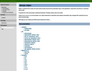 django-dajax.readthedocs.org screenshot
