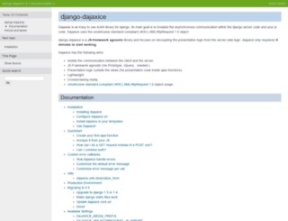 django-dajaxice.readthedocs.org screenshot
