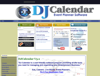 djcalendar.com screenshot