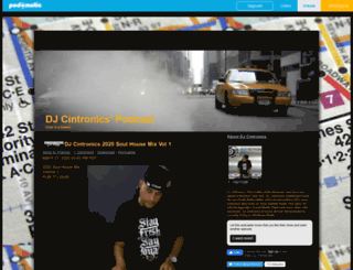 djcintronics.podomatic.com screenshot