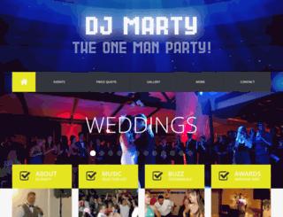 djpartymarty.com screenshot