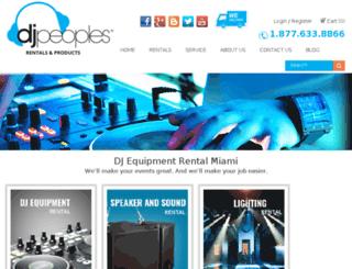 djpeoples.test-development.com screenshot