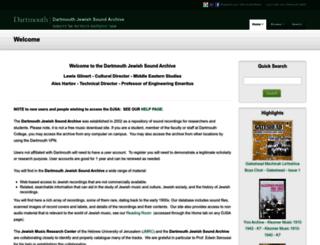djsa.dartmouth.edu screenshot