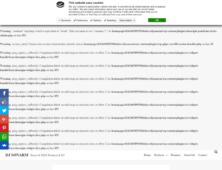 djsonarm.co.uk screenshot