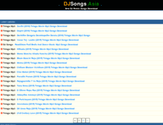 djsongs.asia screenshot