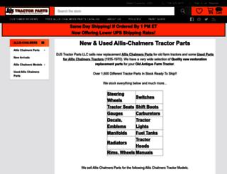djstractorparts.com screenshot