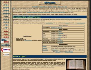 djvu.sourceforge.net screenshot