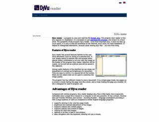 djvureader.org screenshot