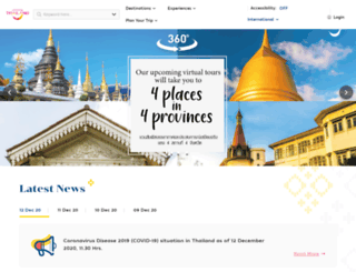 dk.tourismthailand.org screenshot