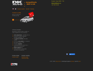dkauto.sk screenshot