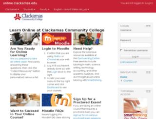 dl.clackamas.edu screenshot