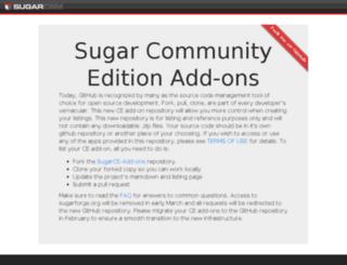 dl.sugarforge.org screenshot