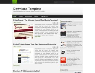 dl4template.blogspot.com screenshot