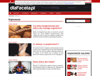 dlafaceta.pl screenshot